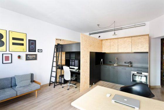 Căn hộ nhỏ xinh trở nên rộng gấp đôi vừa là nhà ở, vừa là nơi làm việc nhờ cách này