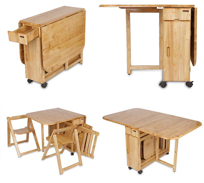 Các bước thao tác bàn ăn xếp gọn