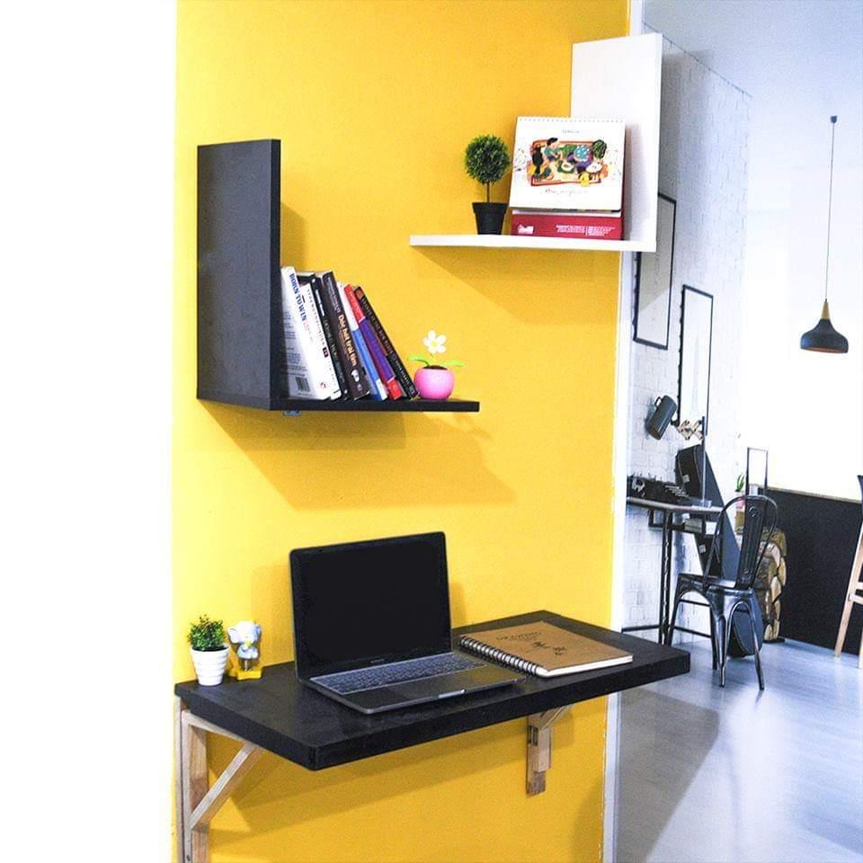 Bàn gấp treo tường màu đen 50 X 100 cm