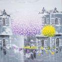 Bàn tranh treo tường xếp gọn hình ngôi nhà tuyết trắng 0