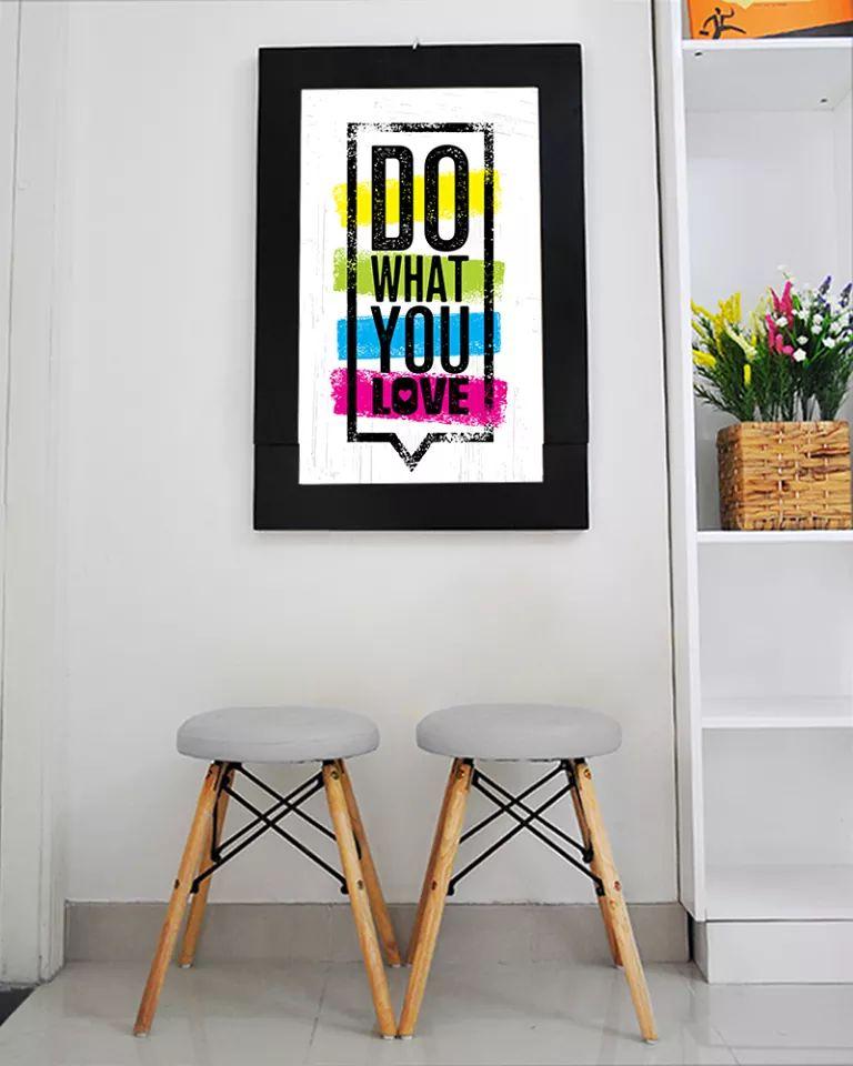 Bàn tranh treo tường xếp gọn hình do what you love