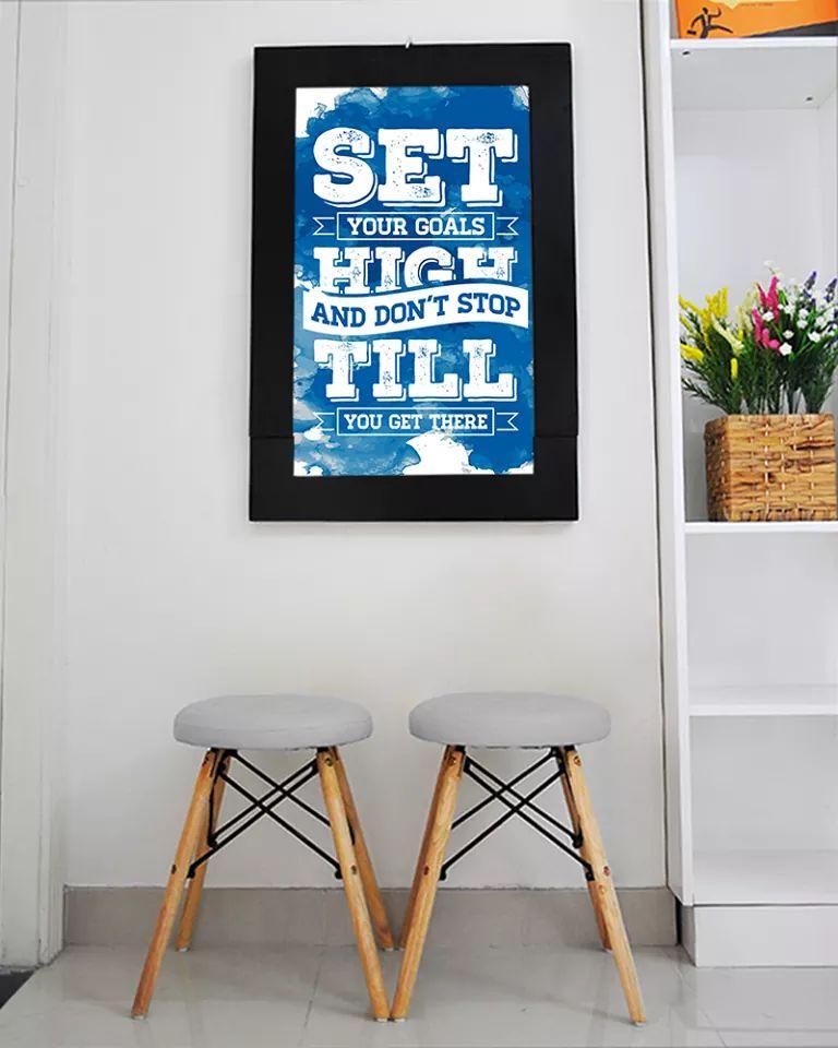 Bàn tranh treo tường xếp gọn hình set your goals