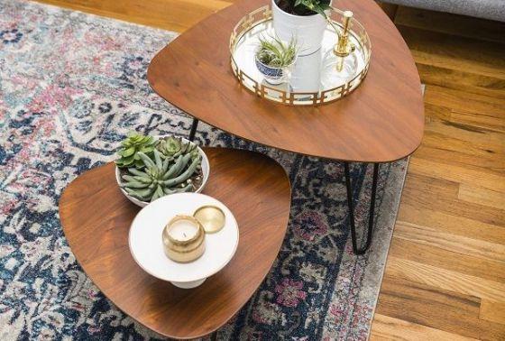 F5 phòng khách cũ kỹ với loạt mẫu bàn cà phê đôi độc đáo, sáng tạo